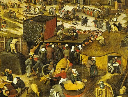 Village feast with theatre performance circa 1600