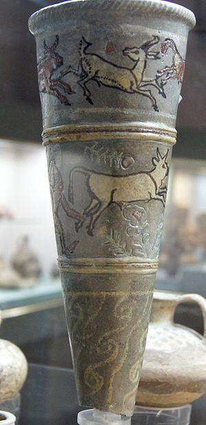 Kition - Faience ryhton with enamel inlay, 13th c. BC, Nicosia museum