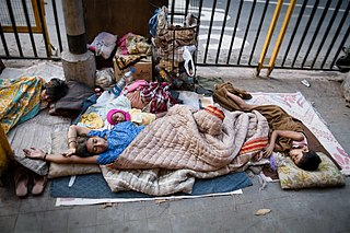 Homelessness circumstance when people desire a permanent dwelling but do not have one