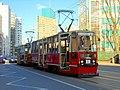 Konstal 105N 1000+1001, tram line E, Warsaw, 2017.jpg