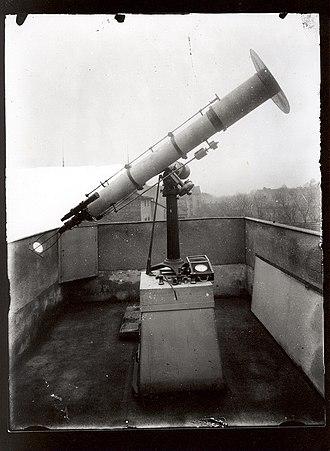 Georg Merz - Refraktor Merz 160/1790 at the baron Artur Krause's Observatory in Pardubice, 1912-1930