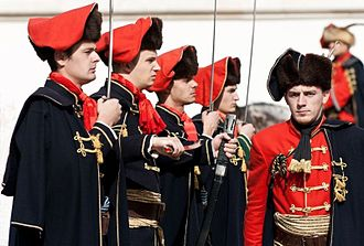 Croats (military unit) - The Cravat Regiment in Zagreb (2012 photograph)