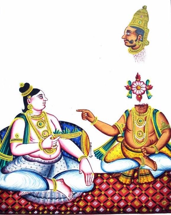 Krishna kills Shishupala