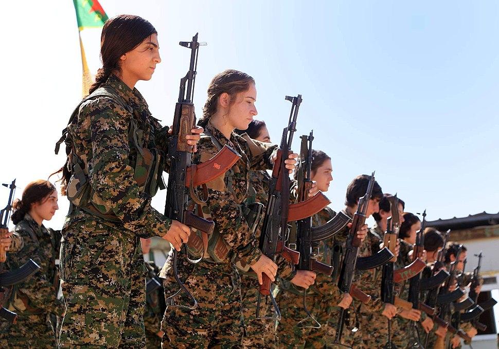 Kurdish YPG Fighters (30358638660)