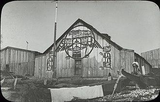 Fort Rupert - Kwakwaka'wakw house, Fort Rupert, 1885