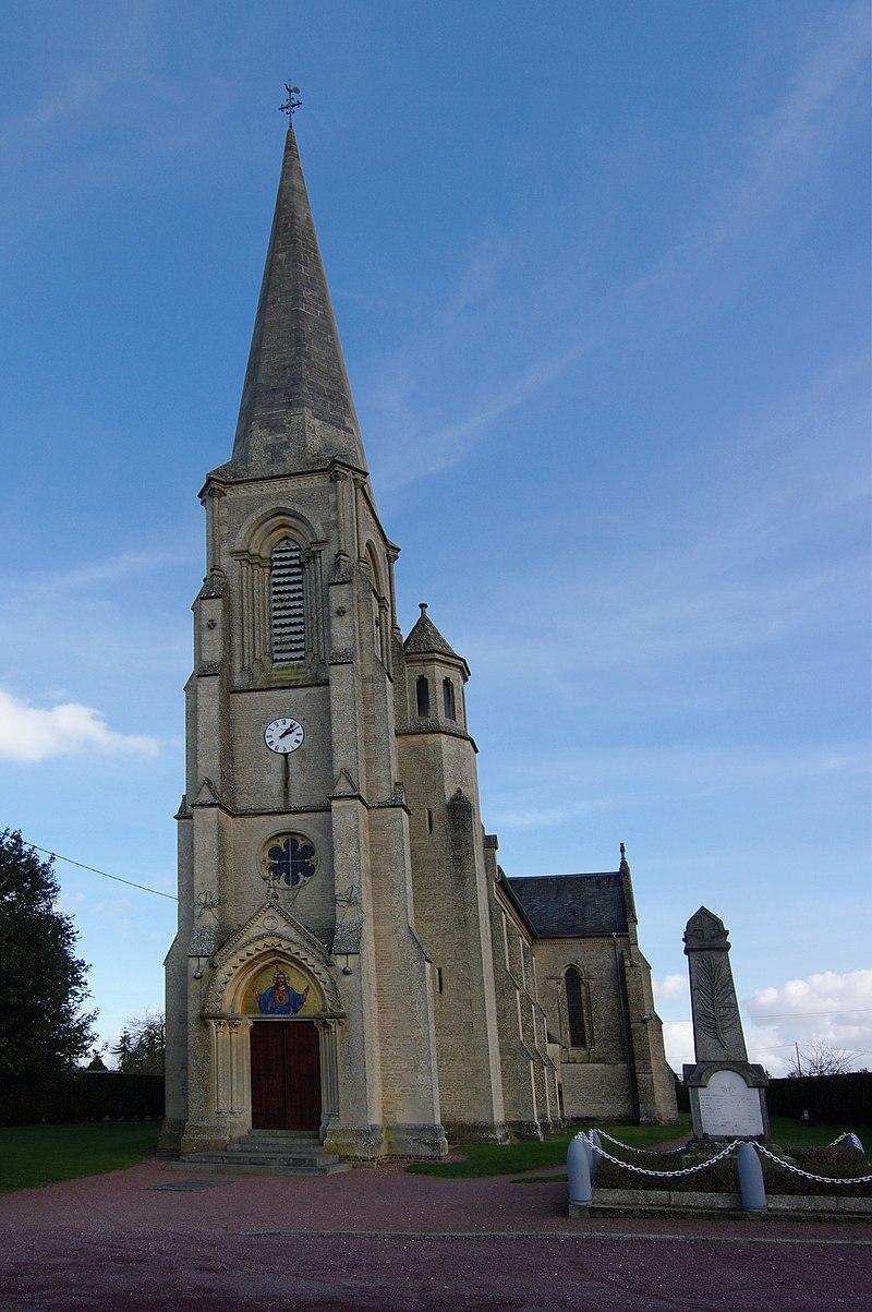 L'église Saint Etienne à Grainville-Langannerie, Calvados. 002.JPG