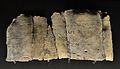 Làmina de plom amb escriptura ibèrica, Pico de los Ajos (Iàtova), Museu de Prehistòria de València.JPG