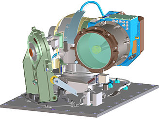 Laser communication in space - Depiction of the optical module of the LLCD