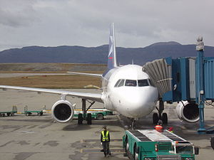 Ushuaia – Malvinas Argentinas International Airport - Image: LAN A320 USH Malvinas Argentinas Airport (5)