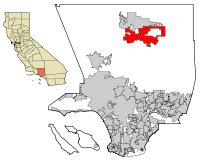 LA County Incorporated Areas Palmdale highlighted.svg