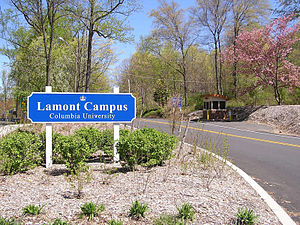 Lamont–Doherty Earth Observatory - Entrance to Columbia University's Lamont Campus on Rt. 9W in Palisades, N.Y.