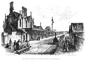 Lichfield Trent Valley railway station - The first station, built in 1847
