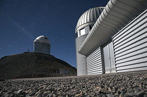 Swiss 1.2-metre Leonhard Euler Telescope - Image: La Silla By Night 2