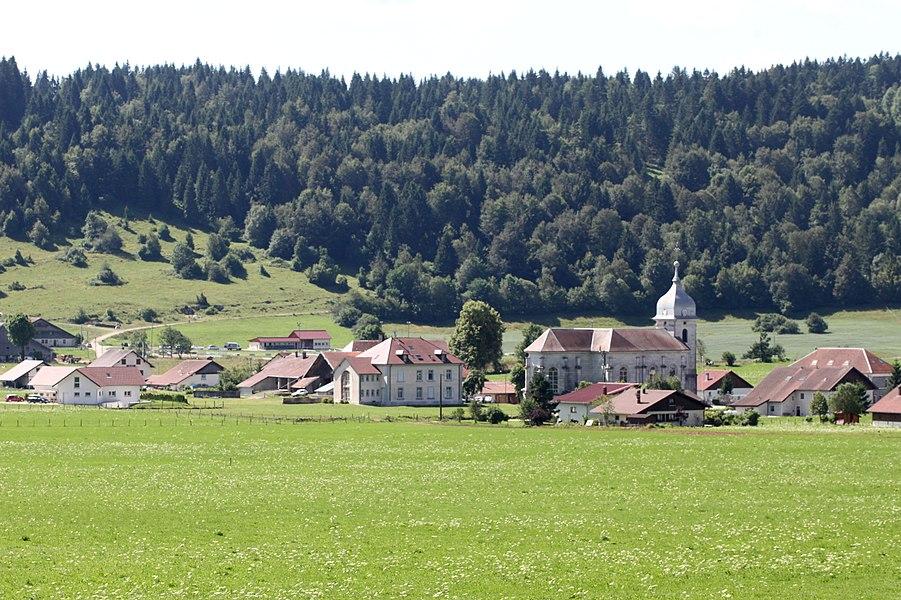 Vue de La Chaux (Doubs).