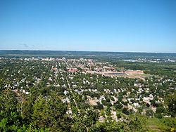 Overlooking La Crosse from Granddad Bluff