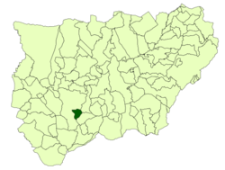 Location of La Guardia de Jaén in relation to province of Jaén