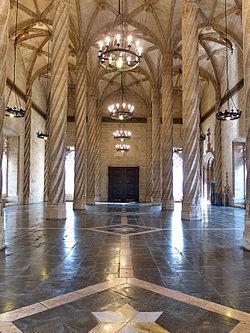 La Lonja de Mercaderes (Valencia). Sala de Contratación.jpg