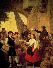 El presente. Fiesta mayor en Moncayo (Aragón) la víspera del santo patrono