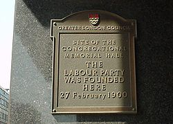 Photo of Labour Party black plaque