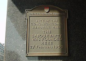 Labour Party (UK) - Labour Party Plaque from Caroone House, 14 Farringdon Street