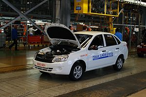 AvtoVAZ - The first Lada Granta on the Tolyatti assembly line, 2011