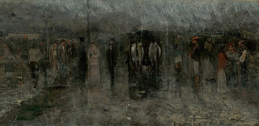 Ladislav Mednyánszky - Gloomy Fair I. (Outcasts) - O 4975 - Slovak National Gallery