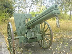 Canon de 75 modèle 1905 Schneider - Image: Lafete 2 1904