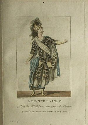 Antonio Sacchini - Étienne Lainez as Rodrigue in Chimène, the second work Sacchini composed for the Paris Opéra