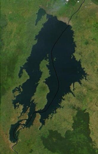 Lake Kivu - Satellite image of Lake Kivu courtesy of NASA.