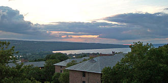 Far Above Cayuga's Waters - View of Cayuga Lake from Cornell University.