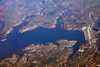 Lake Meredith - Lake Meredith aerial 2007