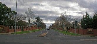Lake Gardens, Victoria - Lake Gardens Avenue looking West from Gillies Street near the Ballarat Botanic Gardens