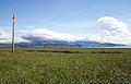 Landeyjahöfn, view of the Eyjafjallajökull.jpg