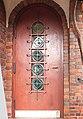 Landhaus Bendiktinerstr 12, Tür mit Metall- und Glasschmuck 2017-10-25 ama fec.JPG