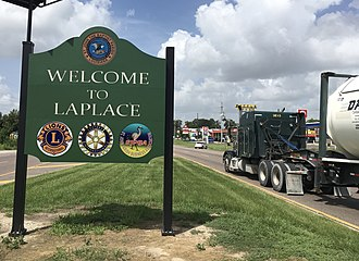 LaPlace, Louisiana - U.S. Highway 61 (Airline Highway) at U.S. Highway 51 intersection in LaPlace