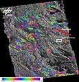 Laquila differential interferogram by TerraSAR-X.jpg