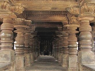 Harihar - Harihareshwara Temple mandapa at Harihara
