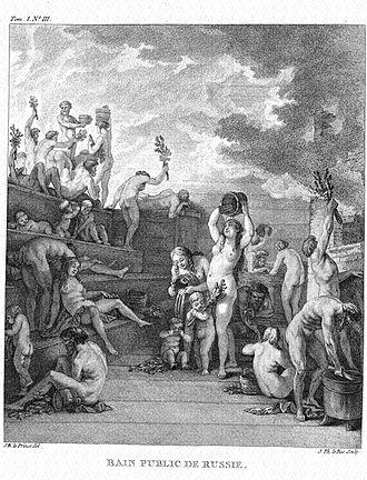 Banny venik - Jean-Baptiste Le Prince, a public banya (1760s)
