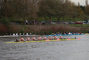 Head of the River Race - Leander Club first VIII starting the 2011 Tideway Head