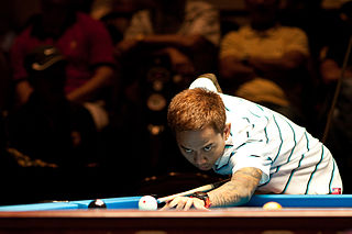 Lee Vann Corteza Filipino pool player