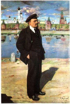Lenin with Kremlin at the background by Isaak Brodsky (1924)