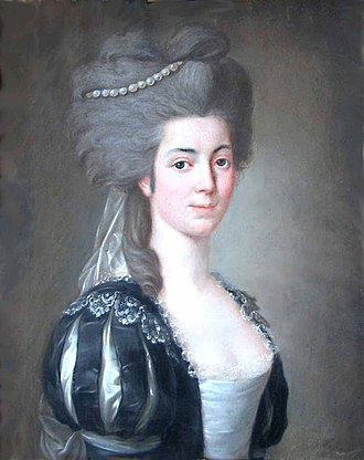 Leonor de Almeida Portugal, 4th Marquise of Alorna - Portrait by Józef Pitschmann (1780)