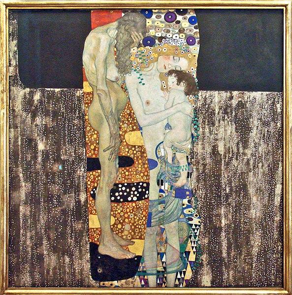 Les trois âges (ou les trois femmes) de Klimt à la Galerie d'art moderne de Rome. Photo de Jean Pierre Dalbéra.