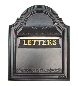 Letter box - A cast-iron mail slot letter box