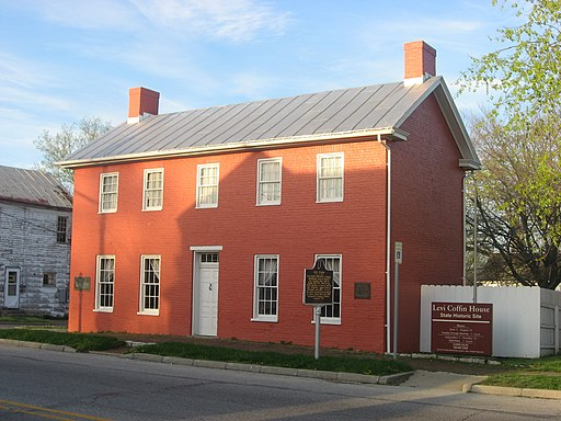 Levi Coffin House, front and southern side