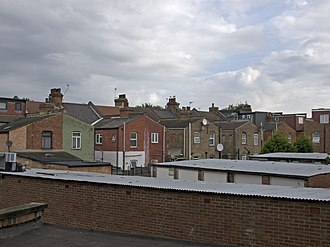 London Borough of Waltham Forest - Inner yards of terrasse houses in Leyton