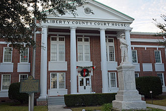 Liberty County Courthouse (Georgia) - Image: Liberty County Courthouse, front Hinesville GA USA