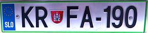 Vehicle registration plates of Slovenia - Registration plates from June 2008