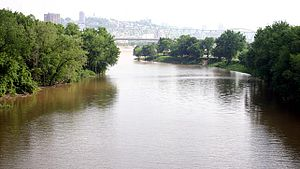 Licking River (Kentucky) - The mouth of the Licking River, where it joins the Ohio River