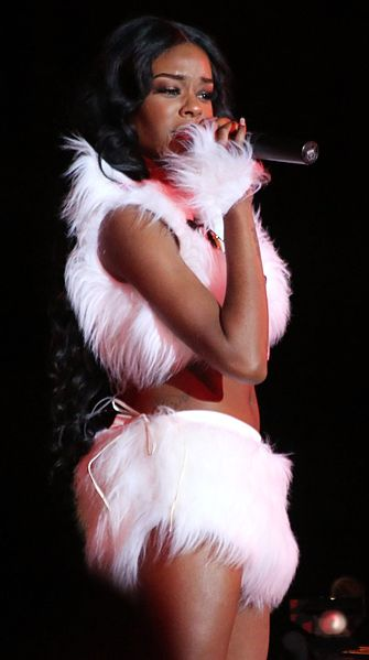 Azealia Banks by Manfred Werner (public domain from https://commons.wikimedia.org/wiki/File:Life_Ball_2013_-_opening_show_034_Azealia_Banks_(cropped).jpg)